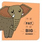 Elephant hand drawn illustration. Vector illustration. — Stock Vector #55883771