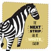 Zebra hand drawn illustration. Vector illustration. — Stock Vector