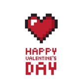 Pixel valentine's day background — Vettoriale Stock