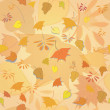Seamless texture of autumn leaves. Orange background — Stock Vector #55943969