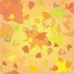 Seamless texture of autumn leaves. Orange background. illustration — Stock Vector #55944193