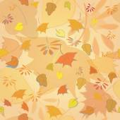 Seamless texture of  autumn  leaves. Orange background — Stock Vector