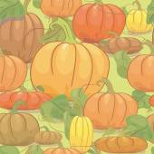 Seamless texture with pumpkins. Can be used for Halloween — Stock Vector