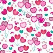 текстуры бесшовные сердца. день святого валентина фон — Cтоковый вектор
