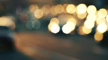 Traffic bokeh — Stock Video