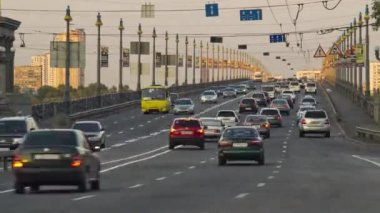 Bridge traffic timelapse — Stock Video