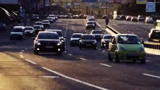 Ciudad tráfico timelapse — Vídeo de stock