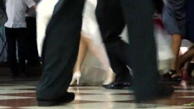 Feet Of Dancing People — Stock Video