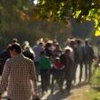 Crowd in the park slow motion — Stock Video #55322299