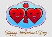 Happy, Love Heart — Stock Vector