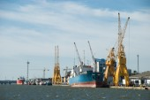 Huelva harbor — Stock Photo