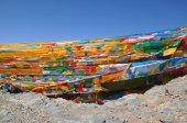 Gebeden vlaggen in Tibet — Stockfoto