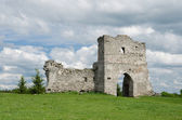 Pomfret gates of ancient castle — Stock Photo