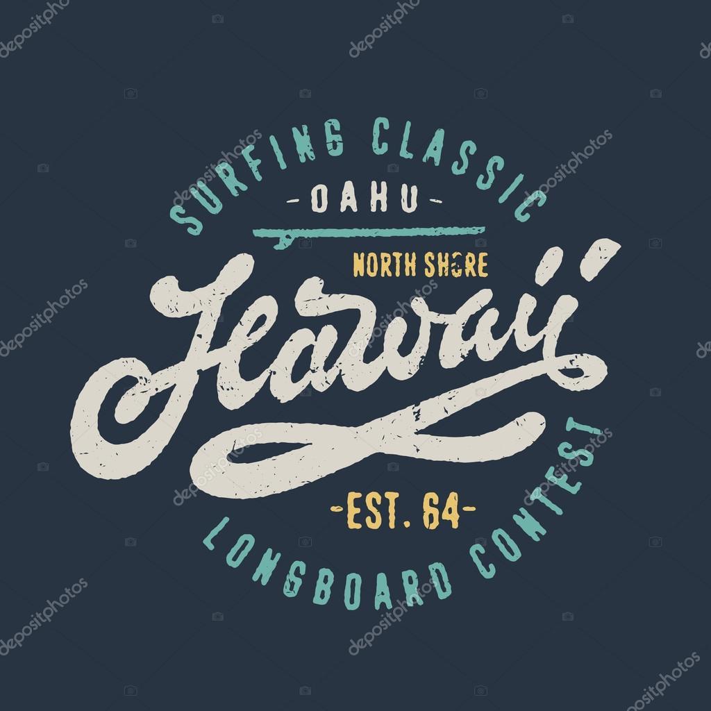 T shirt design hawaii - Hawaii T Shirt Design Stock Vector 114967592
