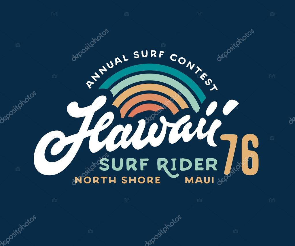 T shirt design hawaii - Hawaii T Shirt Design Stock Vector 114967598