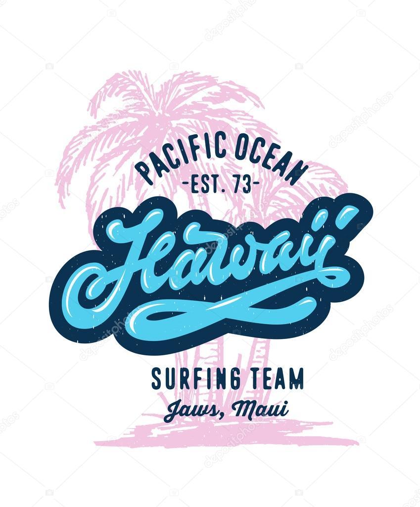T shirt design hawaii - Hawaii T Shirt Design Stock Vector 114969834