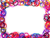 Colorful rubber band frame. — Stock Photo