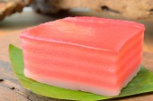 Khanom Chan is colorful layered dessert — Stock Photo