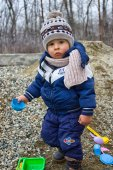 The boy on the walk — Stock Photo