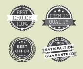Vintage retro prémiové kvality odznaky a štítky — Stock vektor