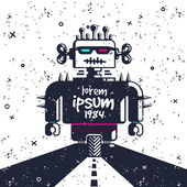 Clockwork robot. — Stock Vector