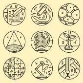 Set of vector round icon — Wektor stockowy