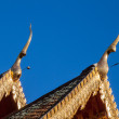 Temple double gable apex with clear blue sky — Stock Photo #56924877