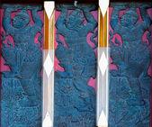 Art of Thai Temple Window — Stock Photo