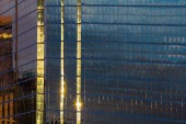 The blue and glass facade — Stock Photo