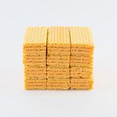 Ninth Waffles on a white background — Stock Photo