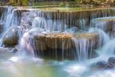 Huay Mae Khamin Waterfalls at Sri Nakarin National Park, — Stock Photo