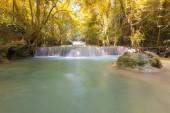 Backyard Waterfall in Autumn Season — Stock Photo