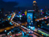 Abstract blur bokeh background of City light — Stock Photo
