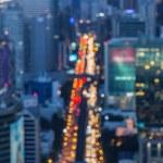 Blurred Defocused Big City Lights of Heavy Traffic at Night — Stock Photo #61572939