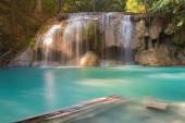 Erawan water fall locate in Thailand national park — Stock Photo