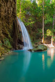 Erawan Waterfall locate in deep forest of Kanchanaburi Nation park, Thailand — Stock Photo