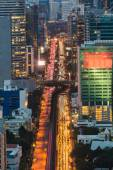 Bangkok downtown traffic during busy hours — Stock Photo