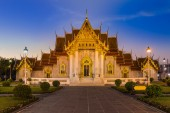 Marble Temple locate in central of Bangkok Thailand — Stock fotografie