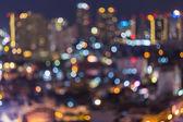 Abstract blur bokeh of Bangkok sky roof top — Stock Photo