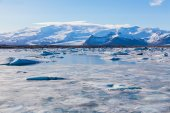 Ice floe on the ice field. Winter Iceland — Stock Photo