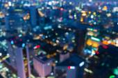 Out of focus big city lights, Blurred Photo bokeh — Stock Photo