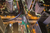 Birds eye view of Traffic in the business district — Stock Photo