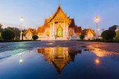 Beautiful Thai Temple called Marble temple in Bangkok — Stock Photo