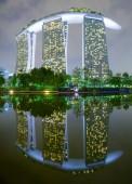 SINGAPOREMAY 23 : Night Marina Bay Sands Resort Hotel on May 23 2015 in Singapore. — Stock Photo