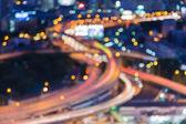 都市高速道路のクロス オーバー、ぼかしボケ ライト ビュー — ストック写真