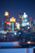 Beautiful of abstract blur bokeh cityscape lights background — Stock Photo