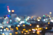 Blurred cityscape lights with bokeh — Stock Photo