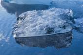 Close up Blue floating ice of Iceland — Stock Photo