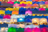 Aerial view of multiple colour of flea market — Stock Photo