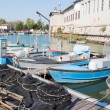 Fishing nets, creels and fishing boats — Stockfoto #56006859